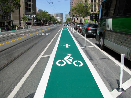 Bike Lanes a la San Francisco / Louisville